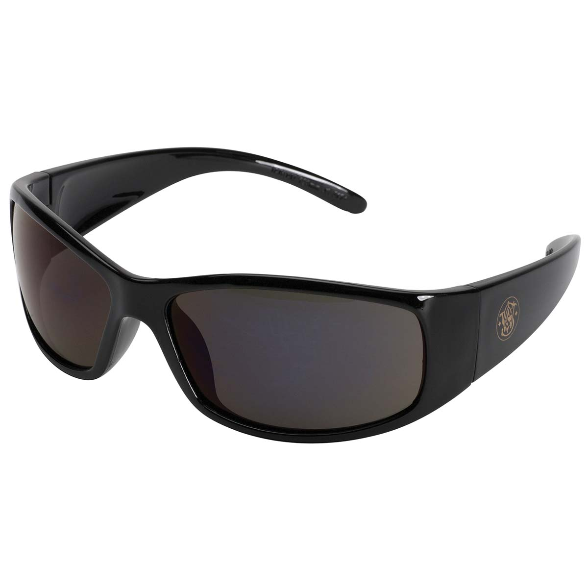 Smith and Wesson Safety Glasses (21303), Elite Safety Sunglasses, Smoke Anti-Fog Lenses with Black Frame, 12 Pairs / Case