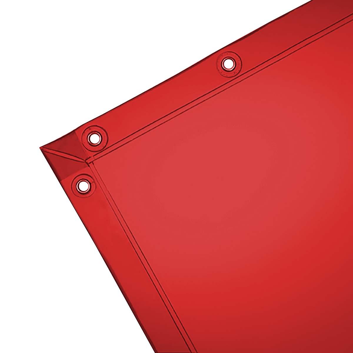 Wilson 14-Mil See-Thru Welding Curtain (36307), 6 x 8 feet, Orange Vinyl Curtain, Standard Grommets, 1 / Case