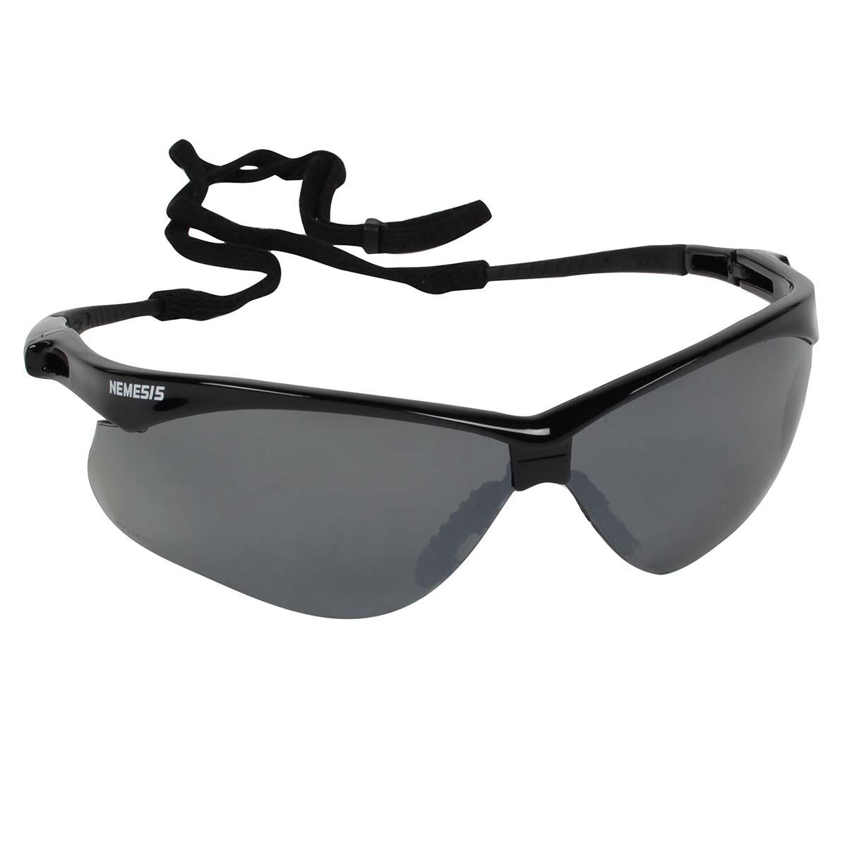 Jackson Safety Nemesis CSA Safety Glasses (20380), CSA Certified, Smoke Mirror Lens with Black Frame, 12 Pairs / Case
