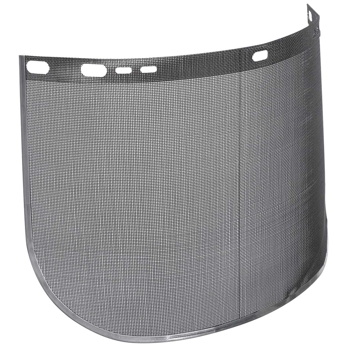 """Jackson Safety F60 Wire Face Shield (29081), Wire Mesh, 9"""" x 15.5"""" x 0.016"""", Reusable Face Protection, Shape E, Bound, 12 Shields / Case"""