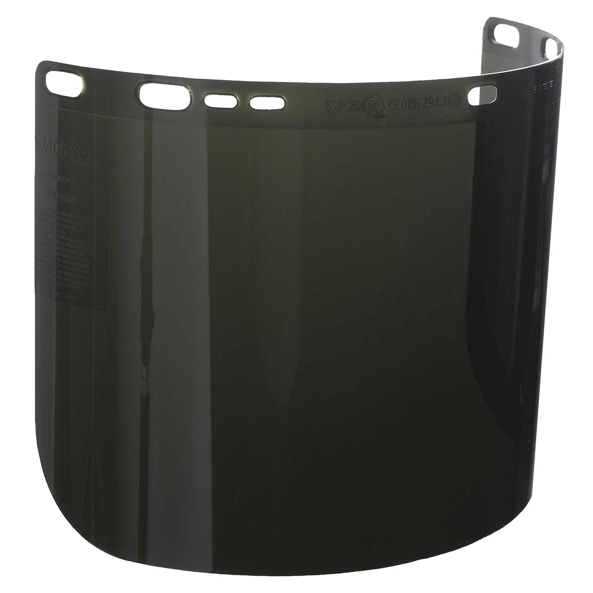 """Jackson Safety F50 Specialty High Impact Face Shield (28633), Polycarbonate, 8"""" x 15.5"""" x 0.06"""", IRUV 5.0, Face Protection, Unbound, 50 Shields / Case"""