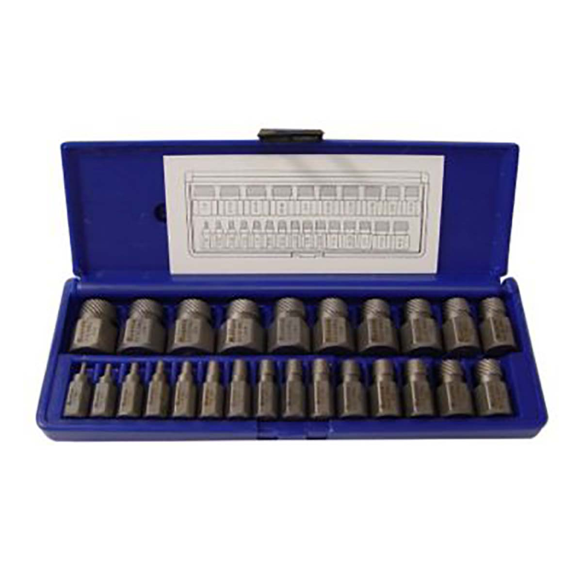 IRWIN HANSON 53227 Hex Head Multi-Spline Screw Extractor Set, 25 Piece