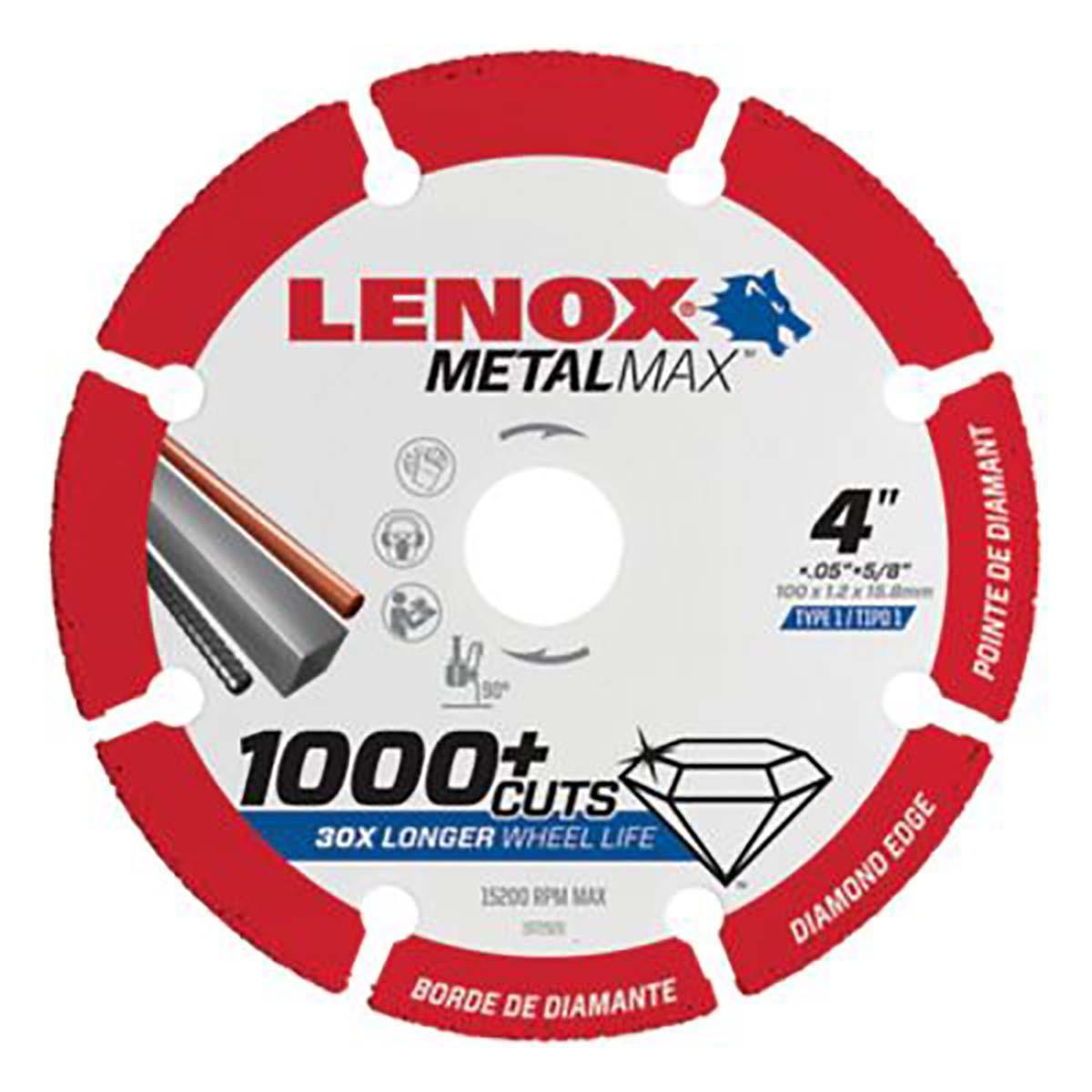 """LENOX DIAM CUTOFF WHEEL AG 4"""" X 5/8"""""""
