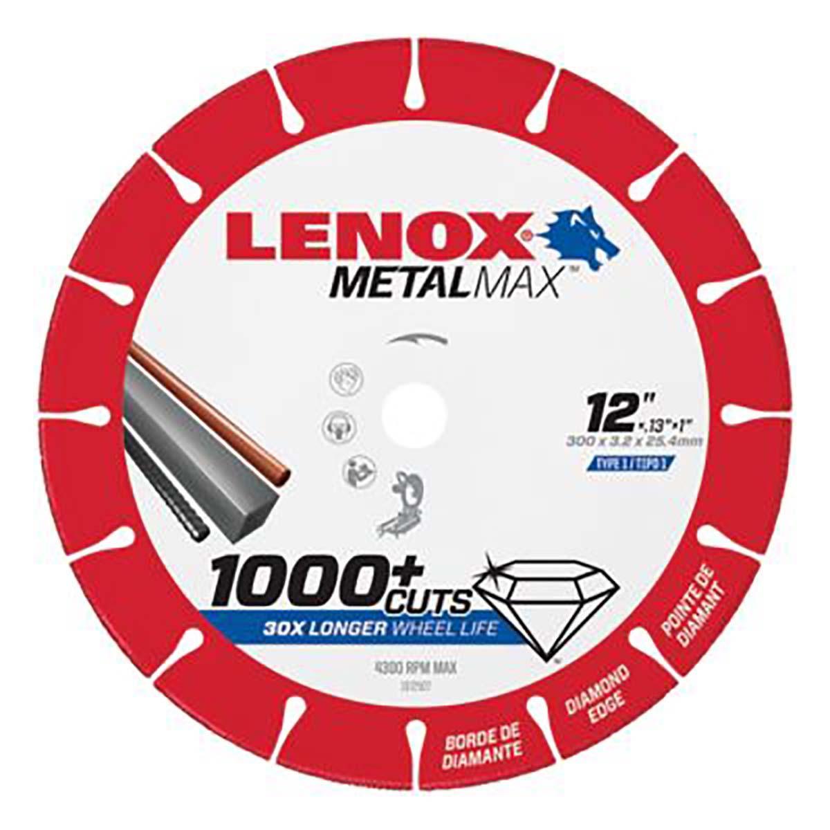 """LENOX DIAM CUTOFF WHEEL CH 12"""" X 1"""""""