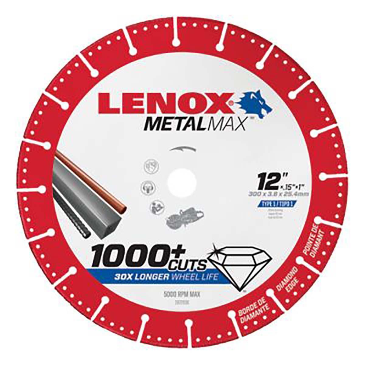 """LENOX DIAM CUTOFF WHEEL GS 12"""" X 1"""""""