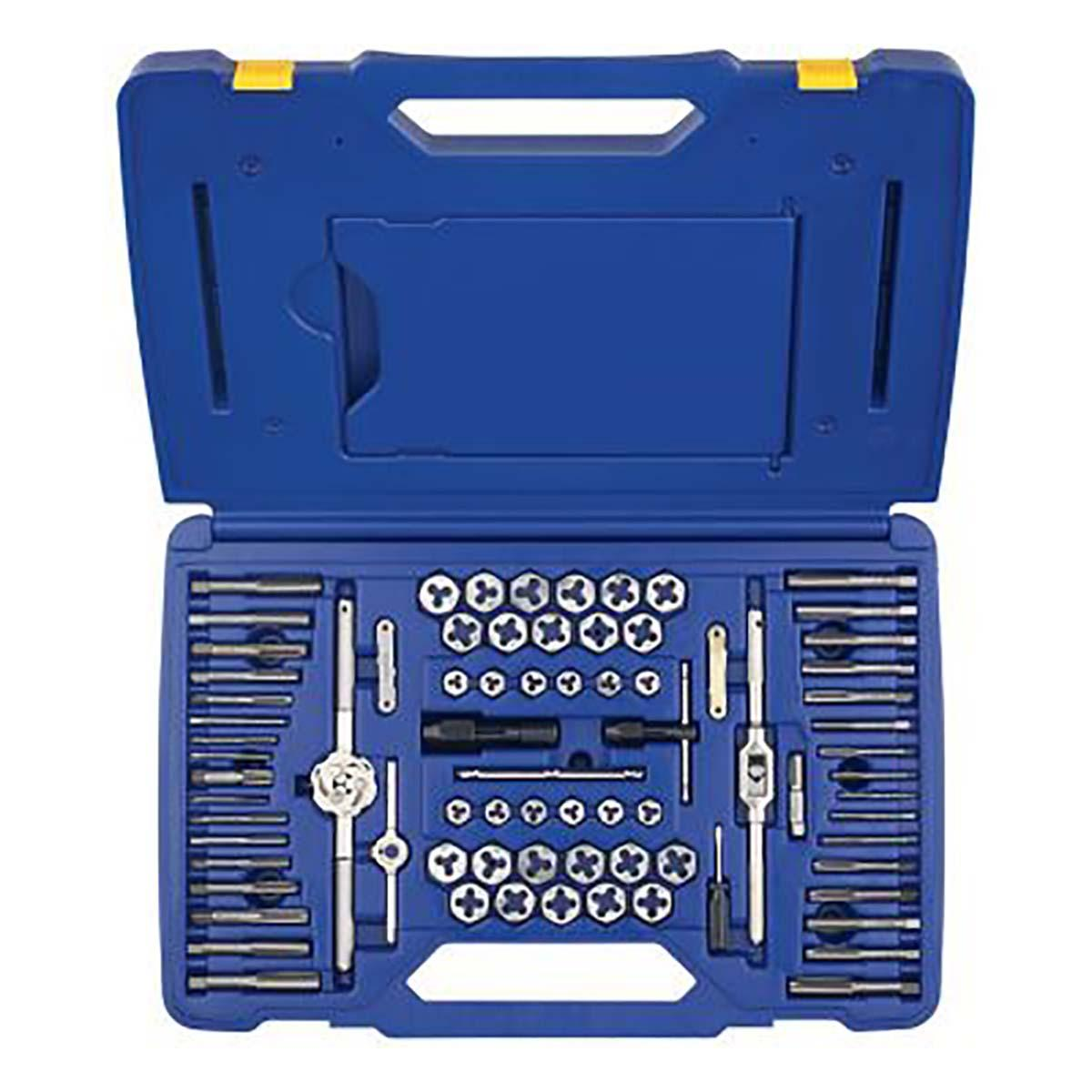 TAP AND DIE SET, 76 PC, HIGH CARBON STEEL