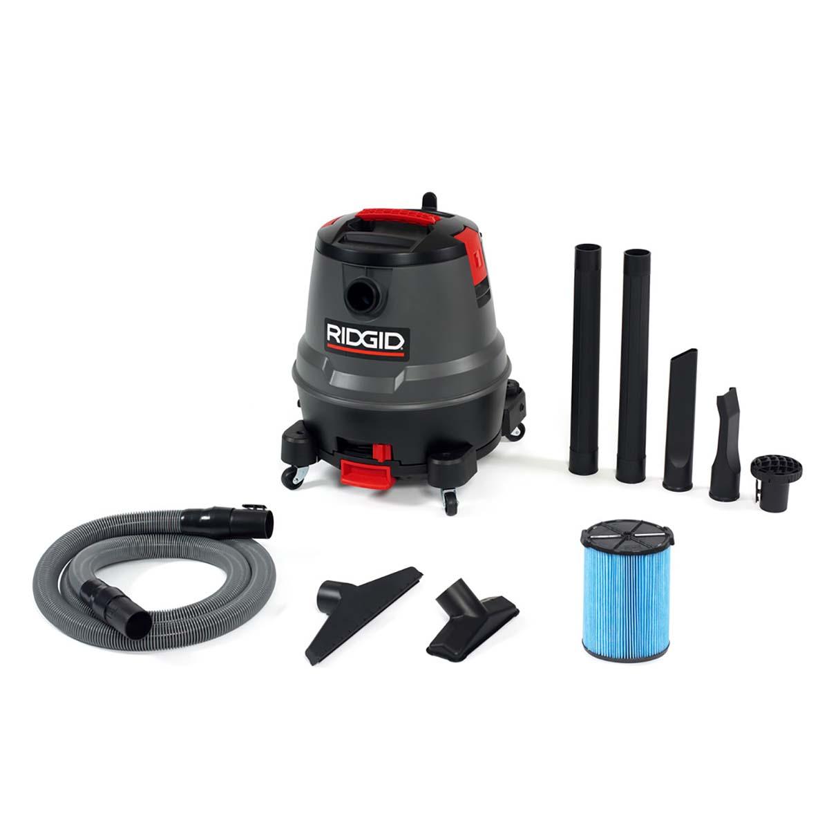 12 Gallon Motor-On-Bottom Wet/Dry Vac (1250RV)