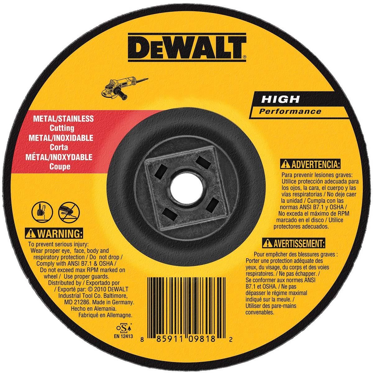 ABRASIVE CUTTING WHEEL, 4-1/2 DX0.045 T, 5/8IN-11 Thin