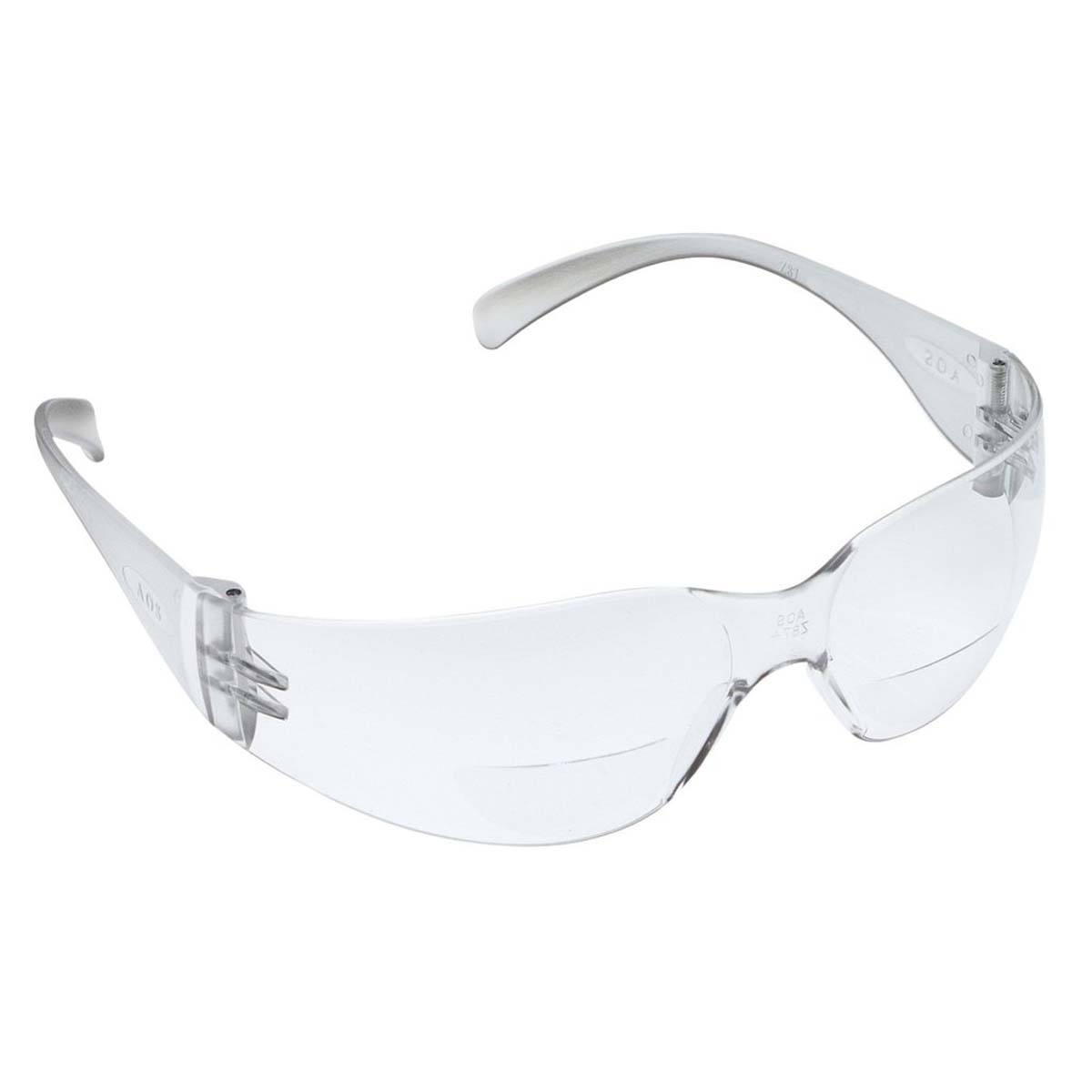 "3Mâ""¢ Virtuaâ""¢ Reader Protective Eyewear 11514-00000-20 Clear Anti-Fog Lens, Clear Temple, +2.0 Diopter"
