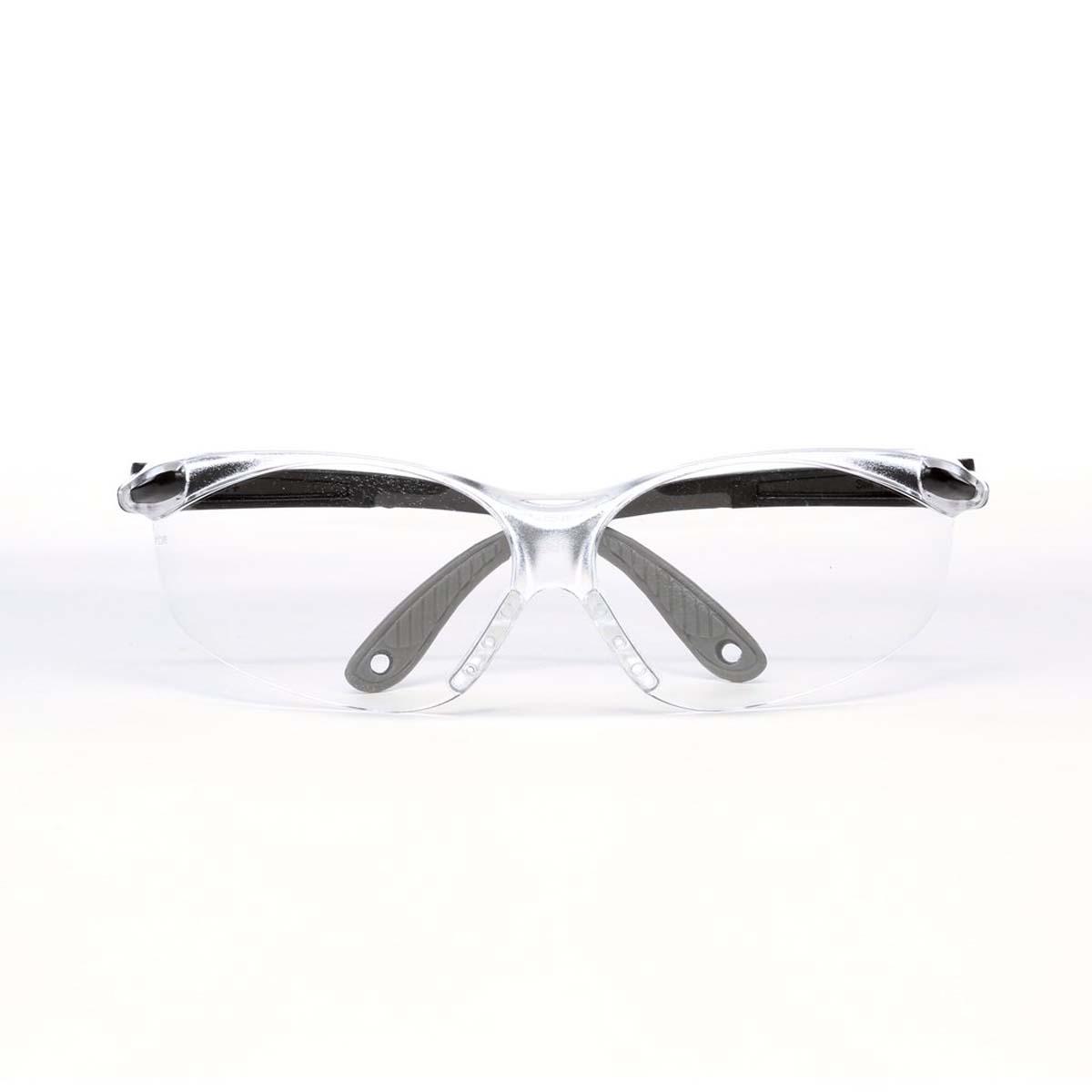 "3Mâ""¢ Virtuaâ""¢ V4 Protective Eyewear 11672-00000-20 Clear Anti-Fog Lens, Black/Gray Temple"