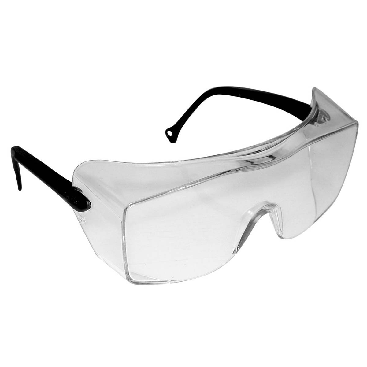 3M OX Protective Eyewear 12159-00000-20 Clear Lens, Black Temple