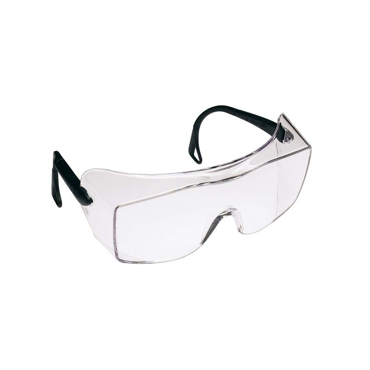 """3Mâ""""¢ OXâ""""¢ Protective Eyewear 2000, 12166-00000-20  Clear Anti-Fog Lens, Black Secure Grip Temple"""
