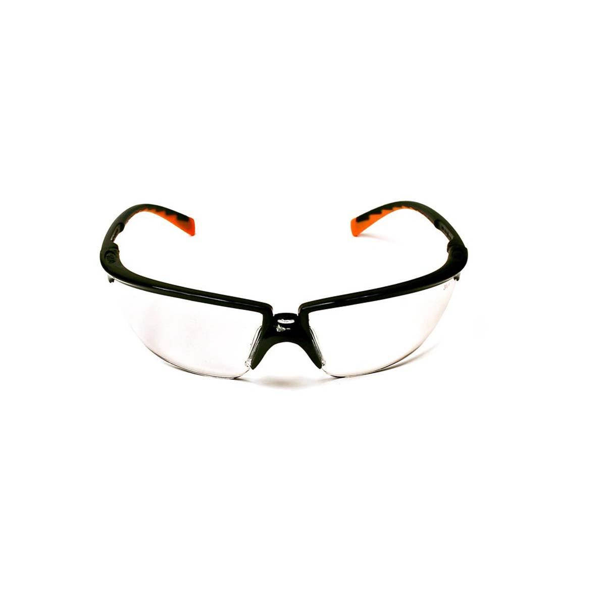 "3Mâ""¢ Privoâ""¢ Protective Eyewear 12261-00000-20 Clear Anti-Fog Lens, Black Frame"