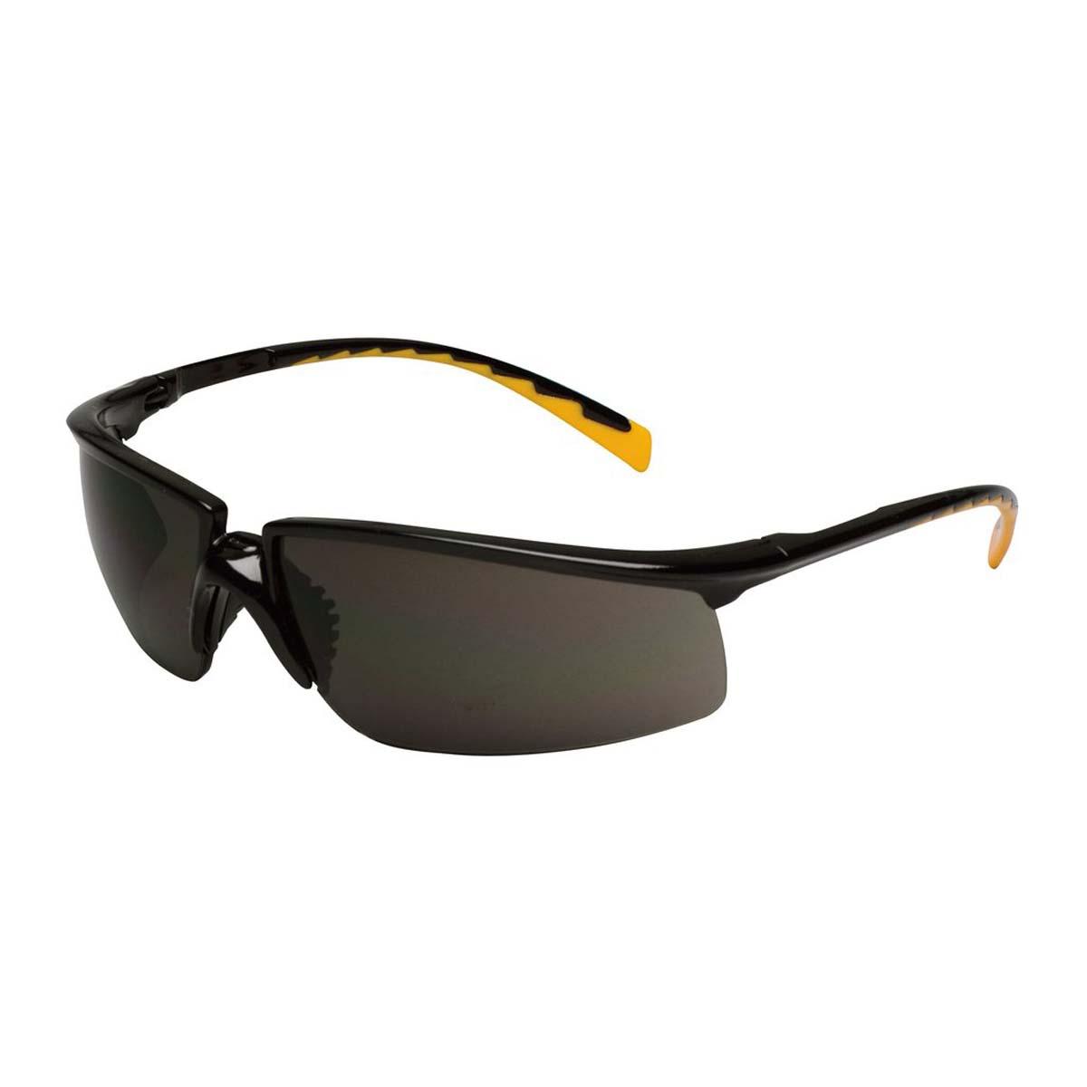 "3Mâ""¢ Privoâ""¢ Protective Eyewear 12262-00000-20 Black Frame, Orange Accent Temple Tips, Gray Anti-Fog Lens,"