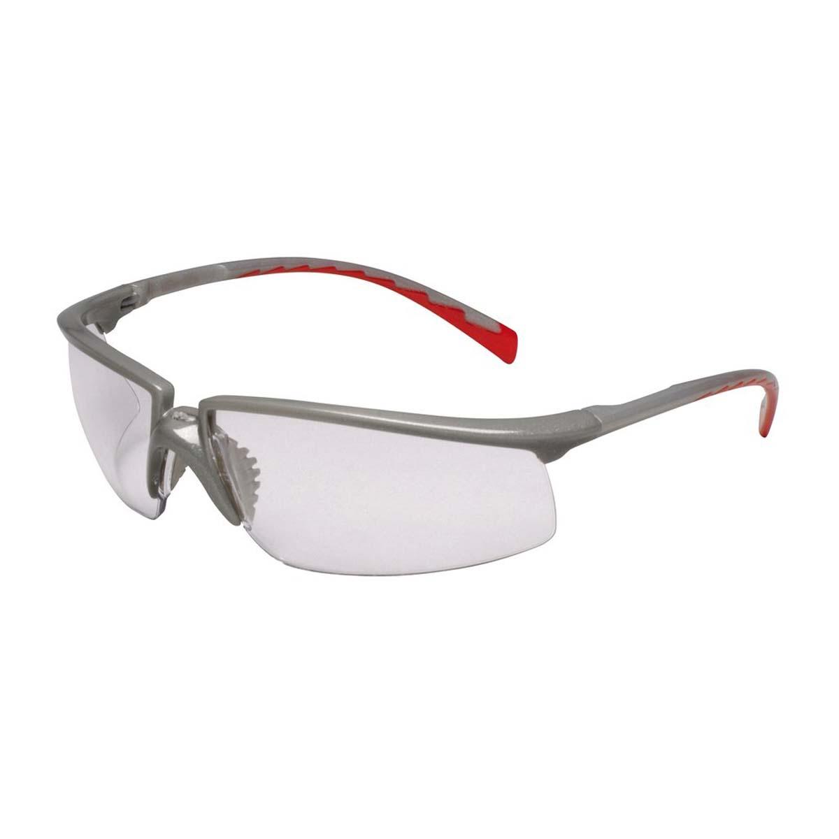 "3Mâ""¢ Privoâ""¢ Protective Eyewear 12265-00000-20 Clear Anti-Fog Lens, Silver Frame"