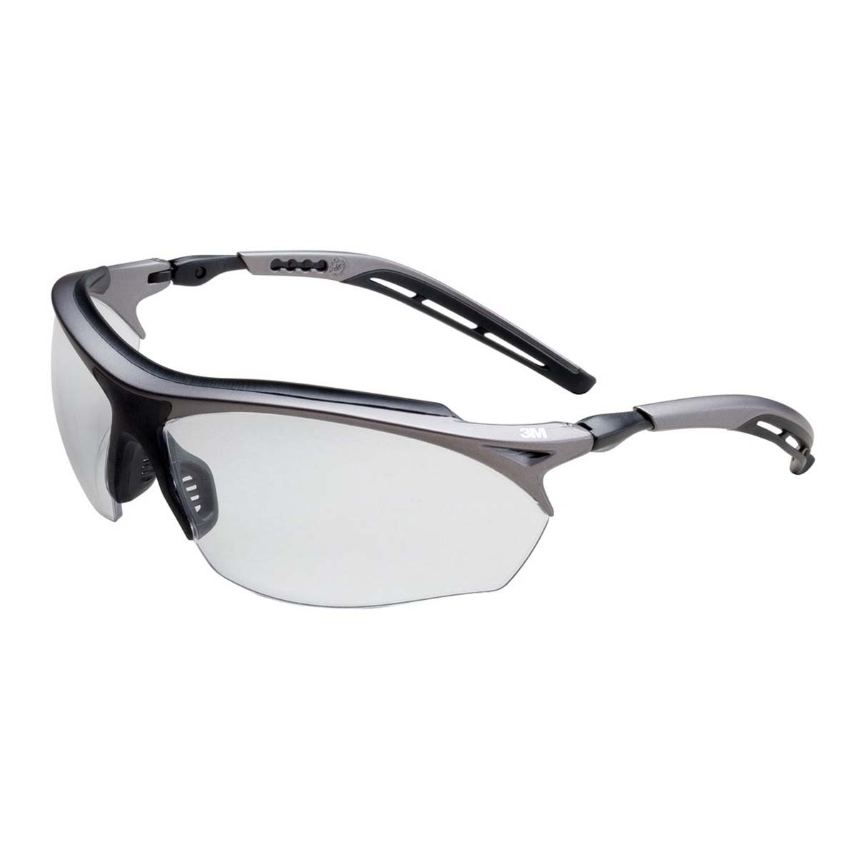 "3Mâ""¢ Maximâ""¢ GT Protective Eyewear 14246-00000-20 Clear Anti-Fog Lens, Metallic Gray and Black Frame Color"