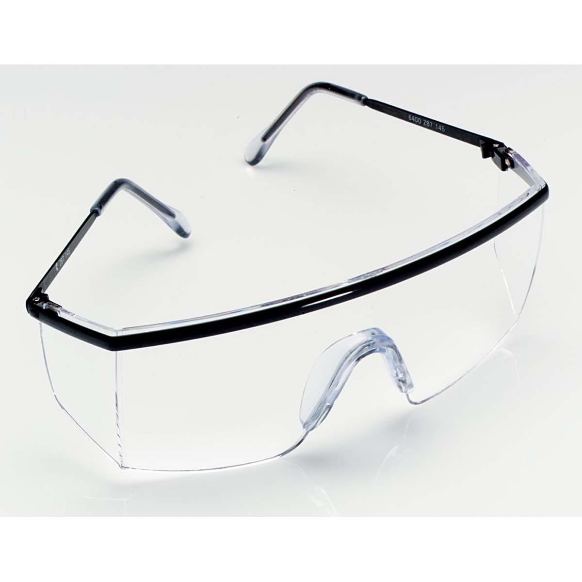"3Mâ""¢ Nassau Plusâ""¢ Protective Eyewear 14300-00000-20 Black Frame, Clear Lens,"