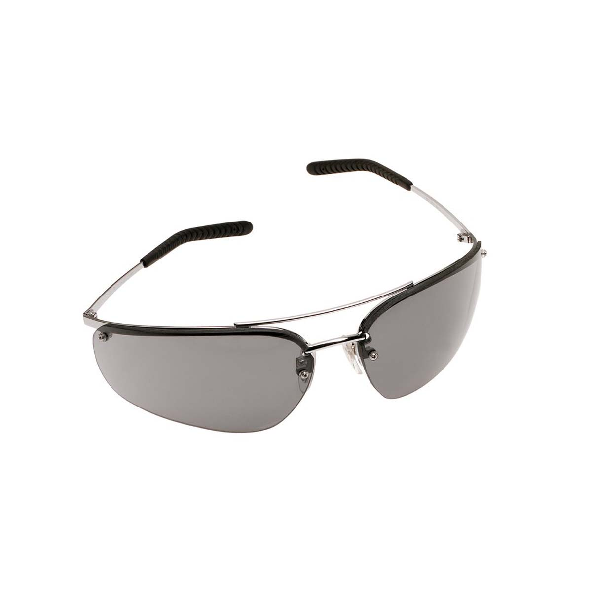 "3Mâ""¢ Metaliksâ""¢ Protective Eyewear 15171-10000-20 Gray Anti-Fog Lens, Polished Metal Frame"