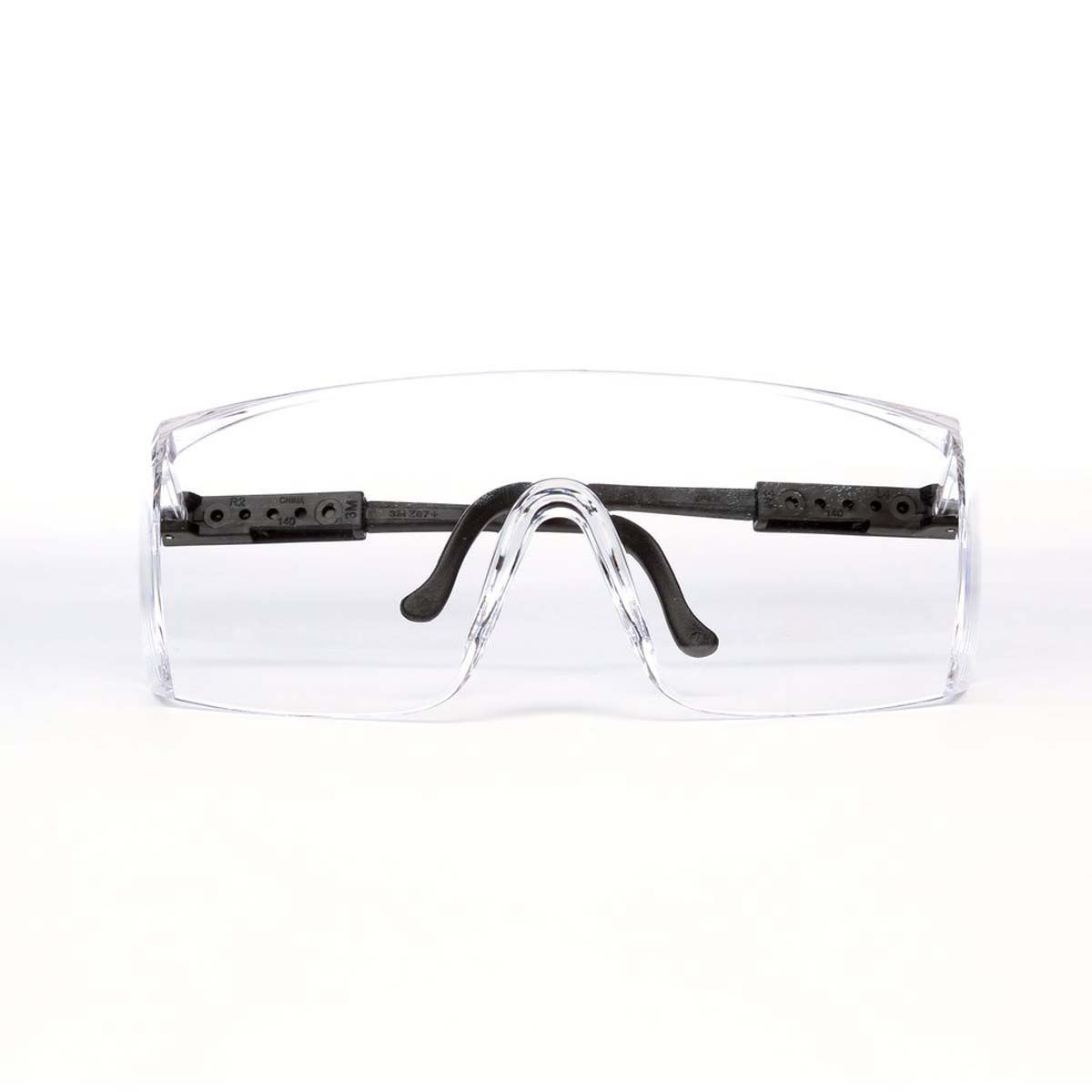 3M Seepro Plus Fighter Protective Eyewear 15957-00000-100 Clear Lens, Black Temple