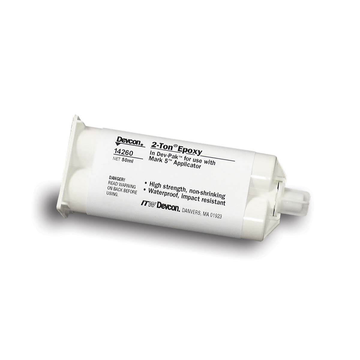 DEVCON® 2 Ton® Epoxy    clear [1-1] - 50 ml cartridge  1 Each