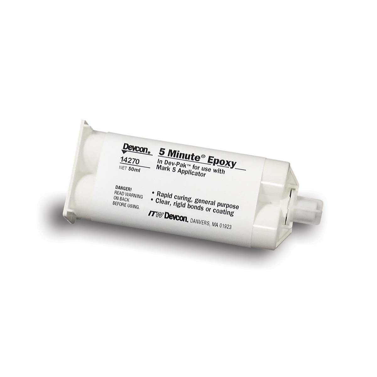 DEVCON® 5 Minute® Epoxy clear [1-1] - 50 ml cartridge  1 Each