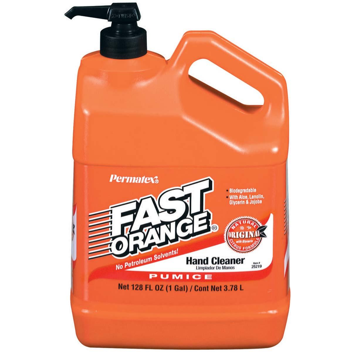 PERMATEX® FAST ORANGE®  Hand Cleaner (Pumice Lotion) - 1 gal. plastic bottle with pump  1 Each