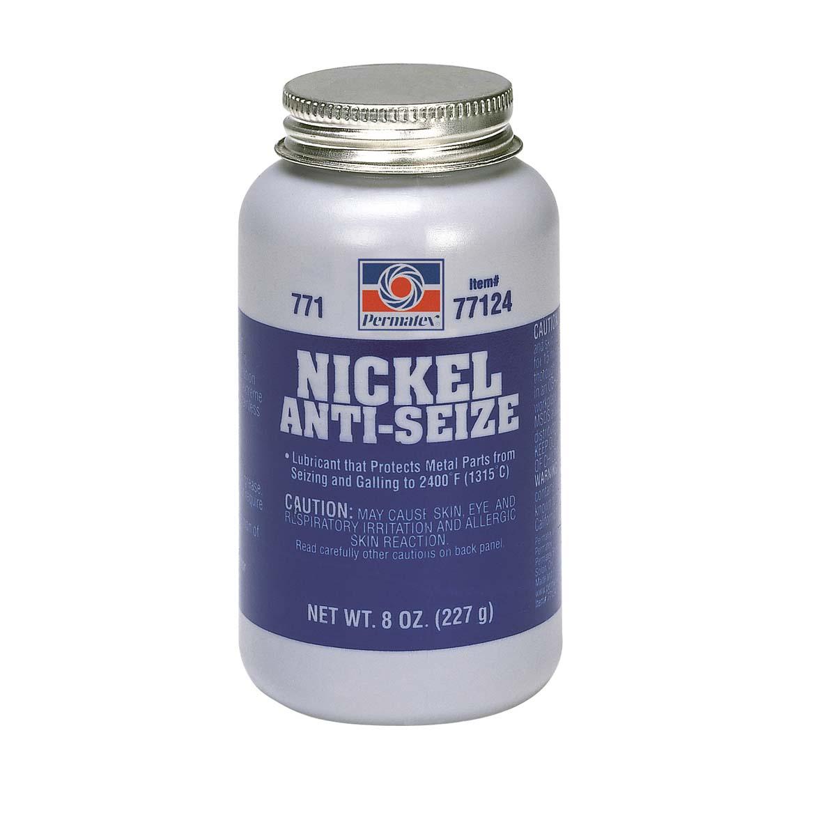 PERMATEX® #771 Nickel Anti-Seize (Maximum Temperature)  - 8 oz. brush top bottle  1 Each