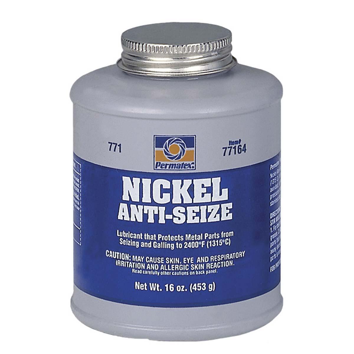 PERMATEX® #771 Nickel Anti-Seize (Maximum Temperature)  - 1 lb. brush top bottle  1 Each