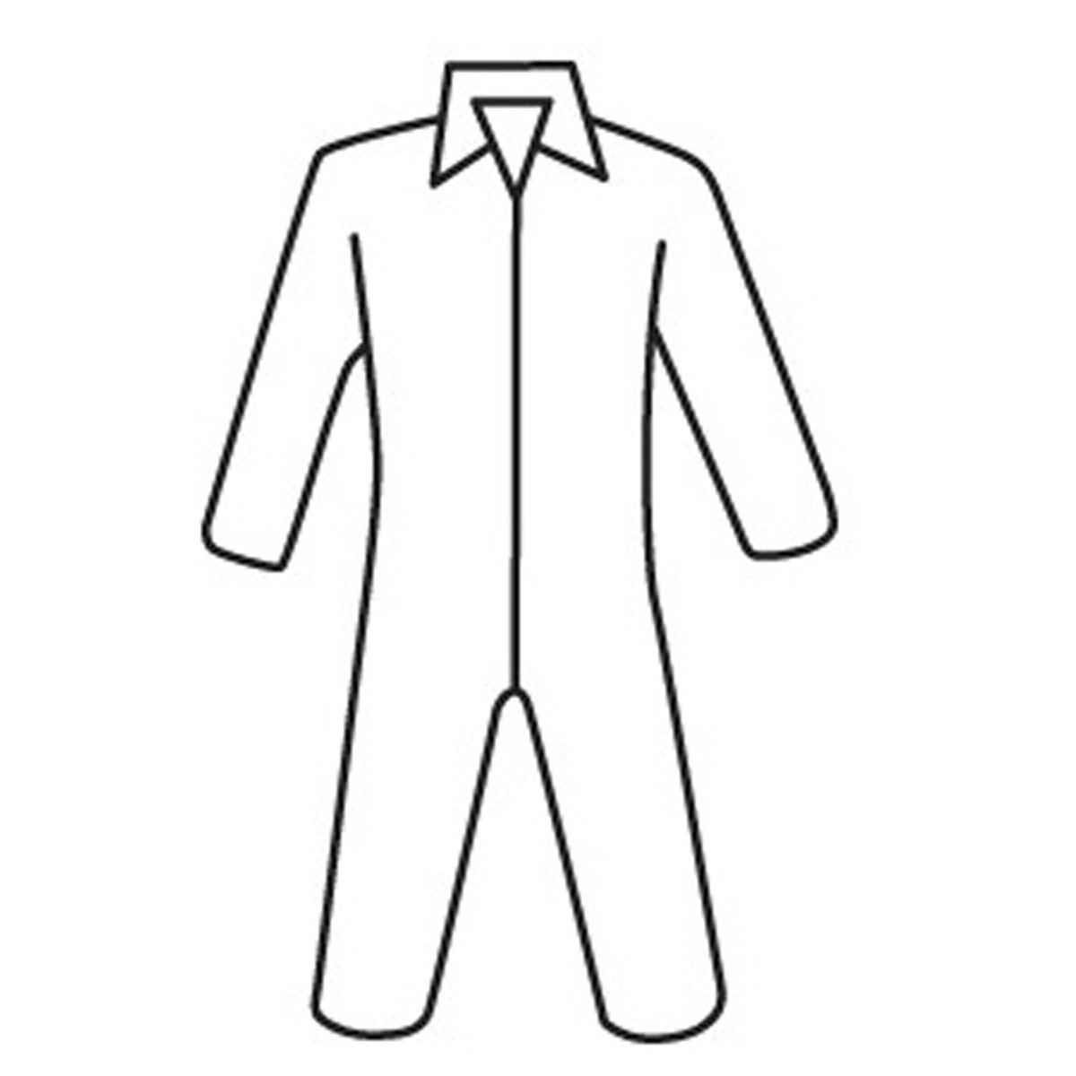 Protective Clothing Posi Wear BA - Microporous Coverall, zipper front and collar