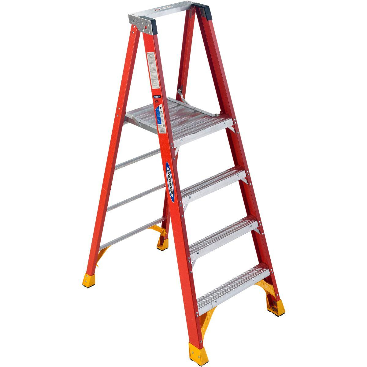 P6204 Fiberglass 4 ft Platform Ladder - 4'