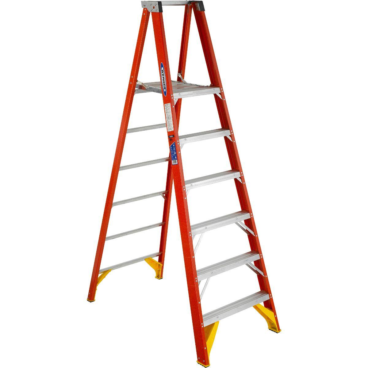 P6206 Fiberglass 6 ft Platform Ladder - 6'