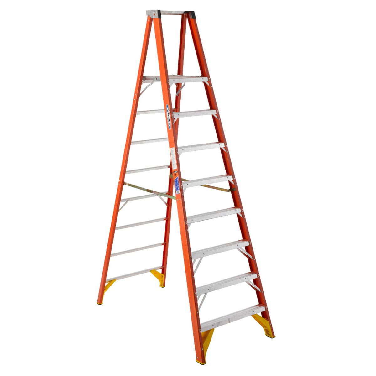 P6208 Fiberglass 8 ft Platform Ladder - 8'