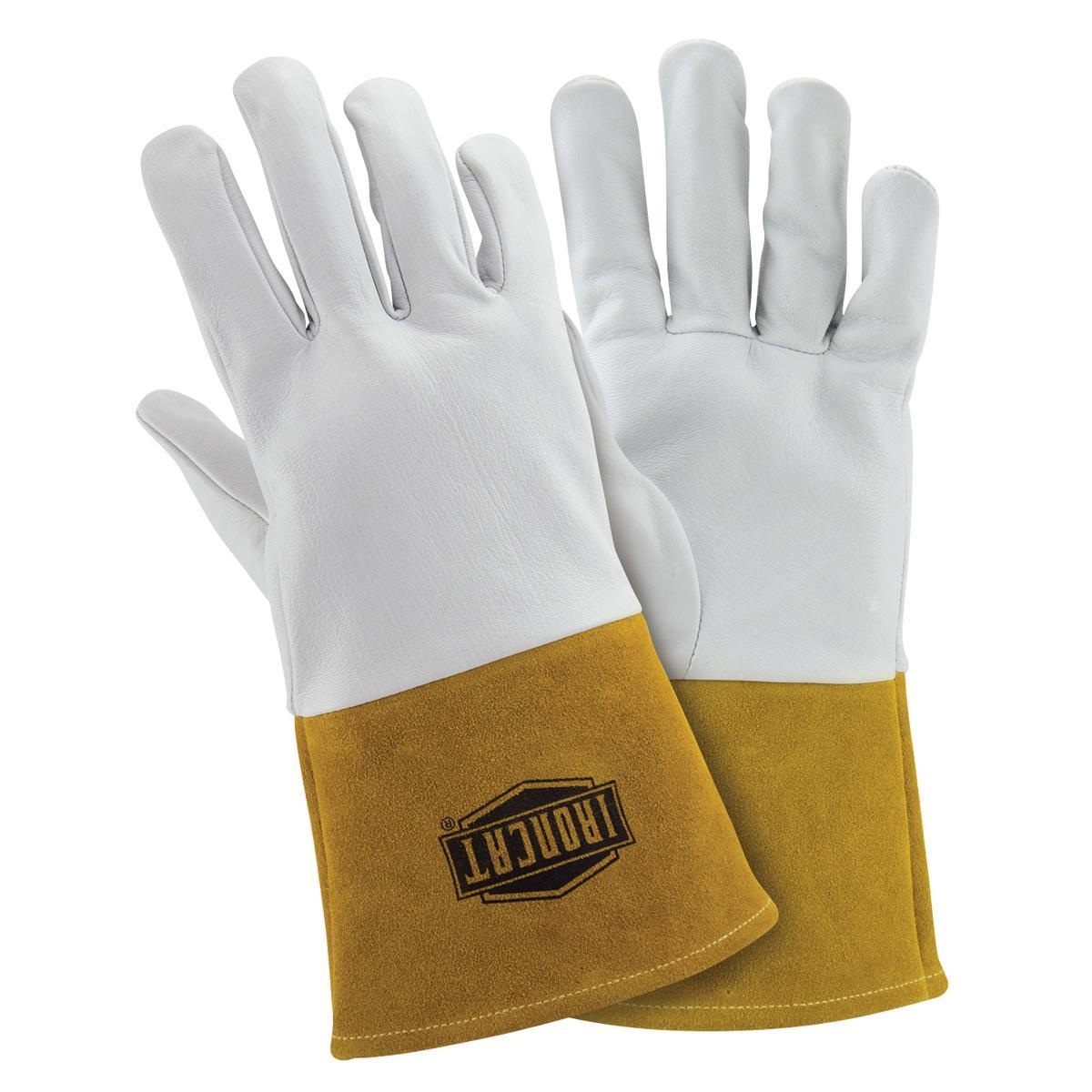 "Premium top grain kidskin TIG welding glove, straight thumb, 4"" cuff, Kevlar sewn"