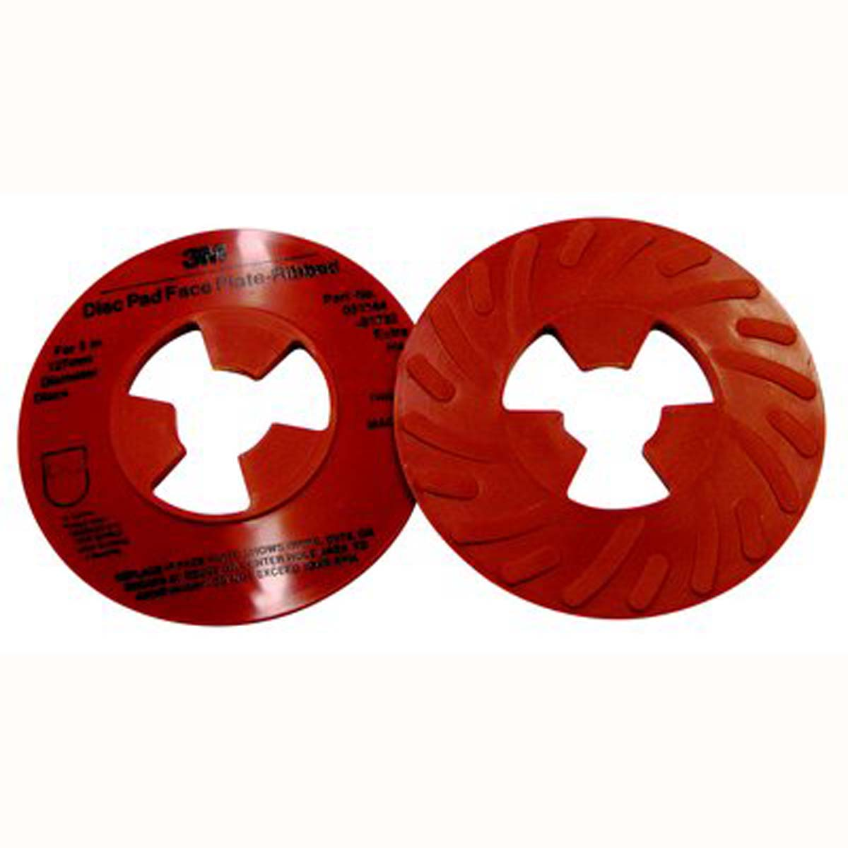 3M Disc Pad Face Plate Ribbed 81732  5 in Extra Hard Red