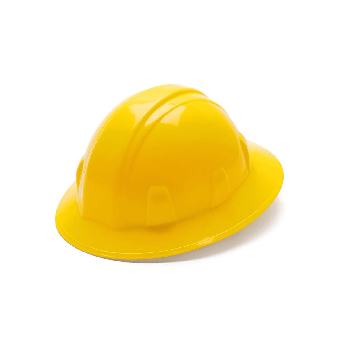 Yellow-Full Brim 4 Pt Ratchet Suspension