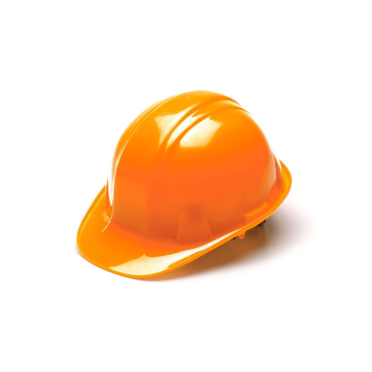 Hi Vis Orange-Standard Shell 4 Pt Ratchet Suspension