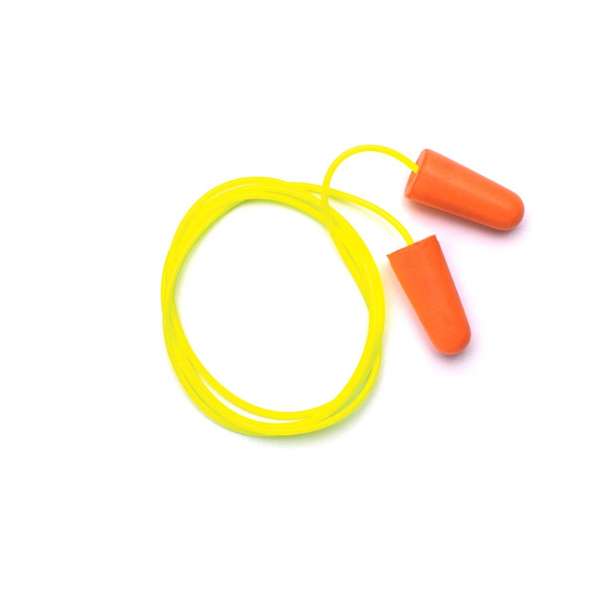 Pyramex DP1001 Disposable Corded Polyurethane Foam Ear Plugs - 31 NRR