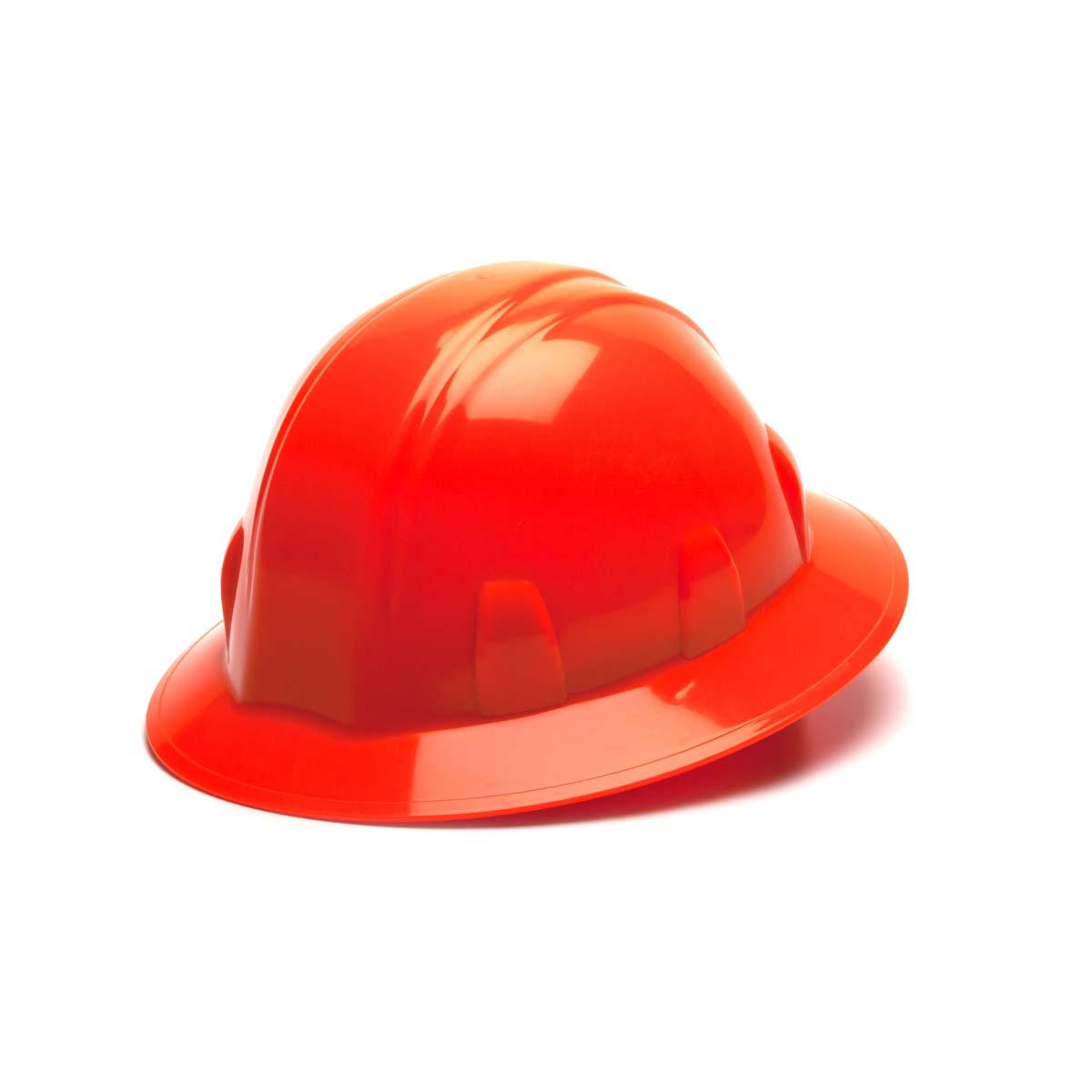 Hi Vis Orange-Full Brim 4 Pt Ratchet Suspension