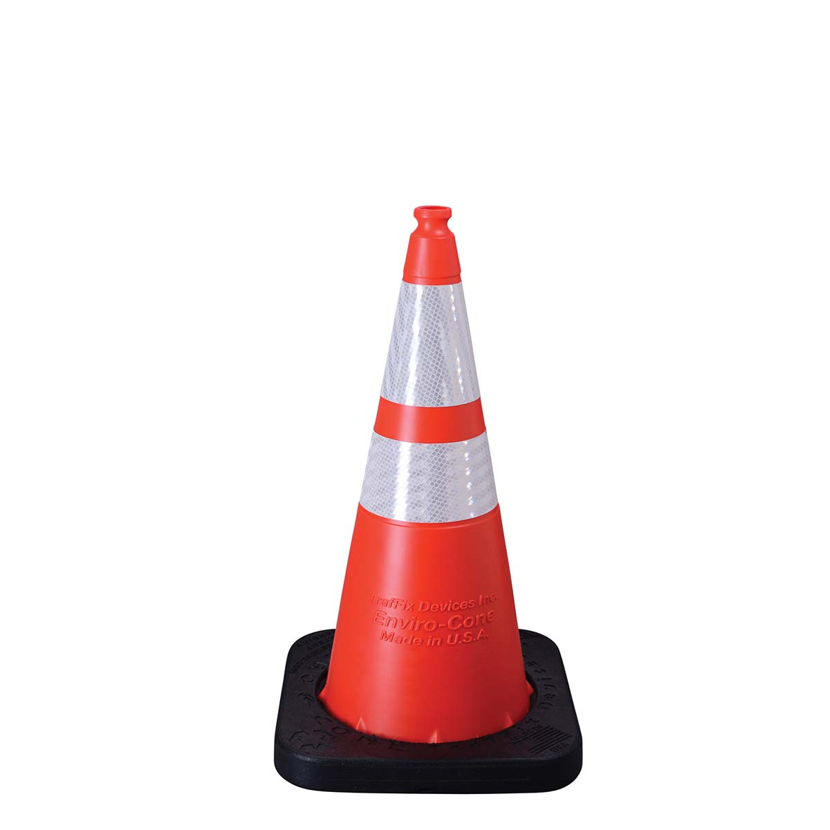 "28"" / 10 LB. ENVIRO CONE ORANGE WITH COLLARS"