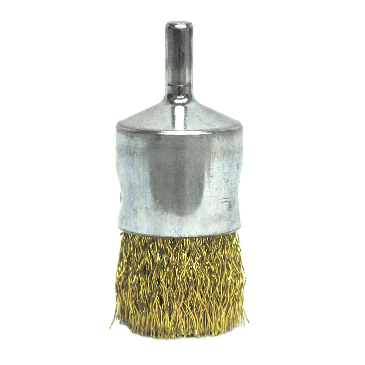 "CRIMPED WIRE END WIRE BRUSH, BRASS, 1"" EBA-22 .0118 BRASS"