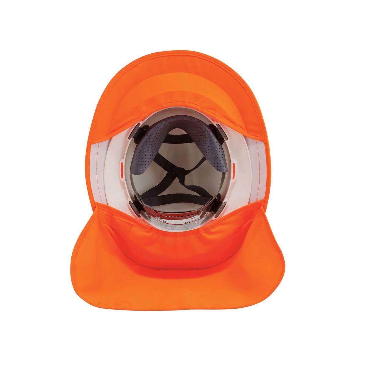 6660  Orange Hard Hat Brim with Shade