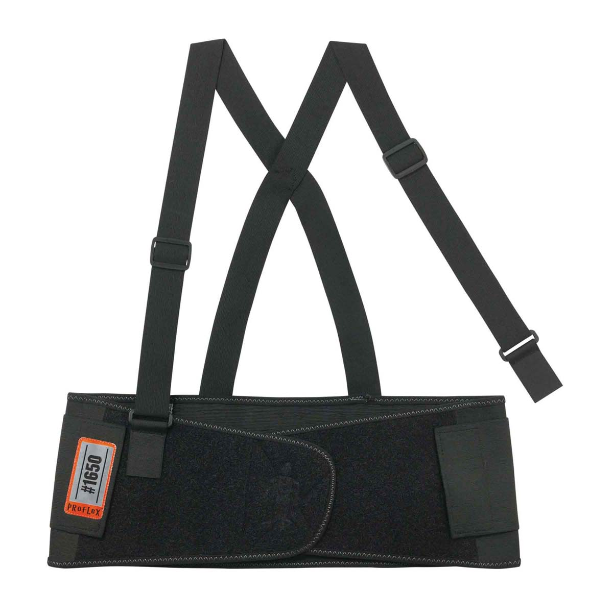 1650 L Black Economy Elastic Back Support