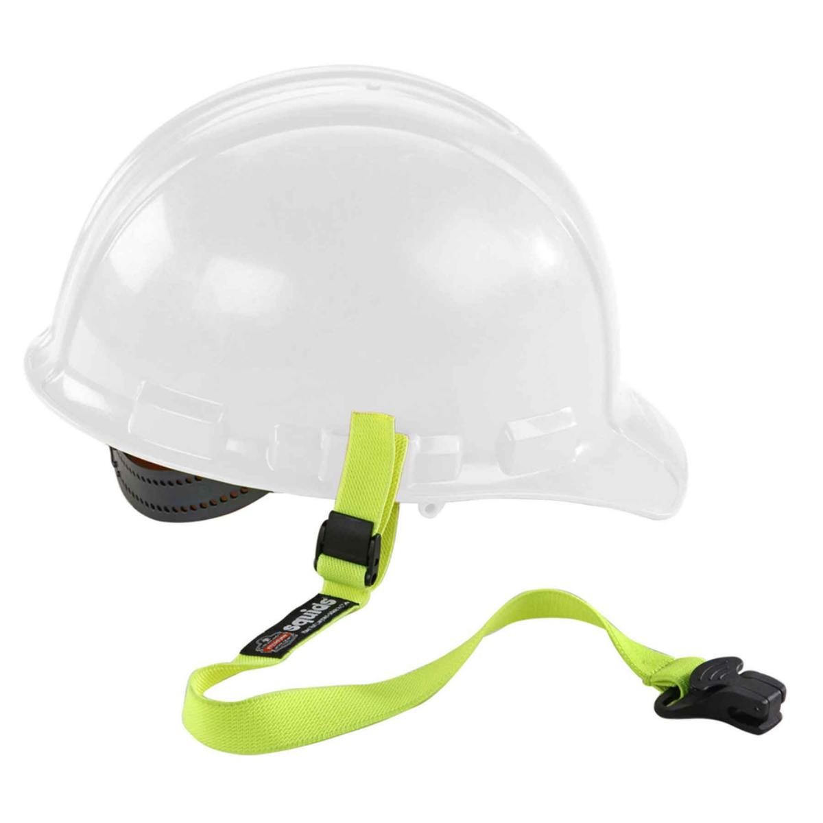 3155  Lime Elastic Hard Hat Lanyard with Clamp