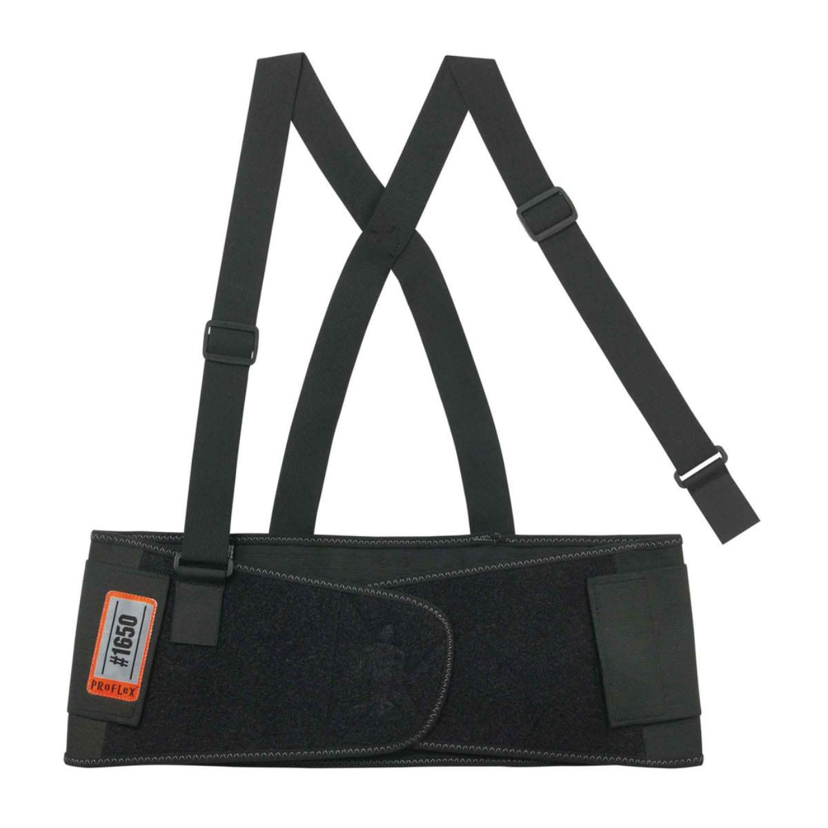 1650 2XL Black Economy Elastic Back Support