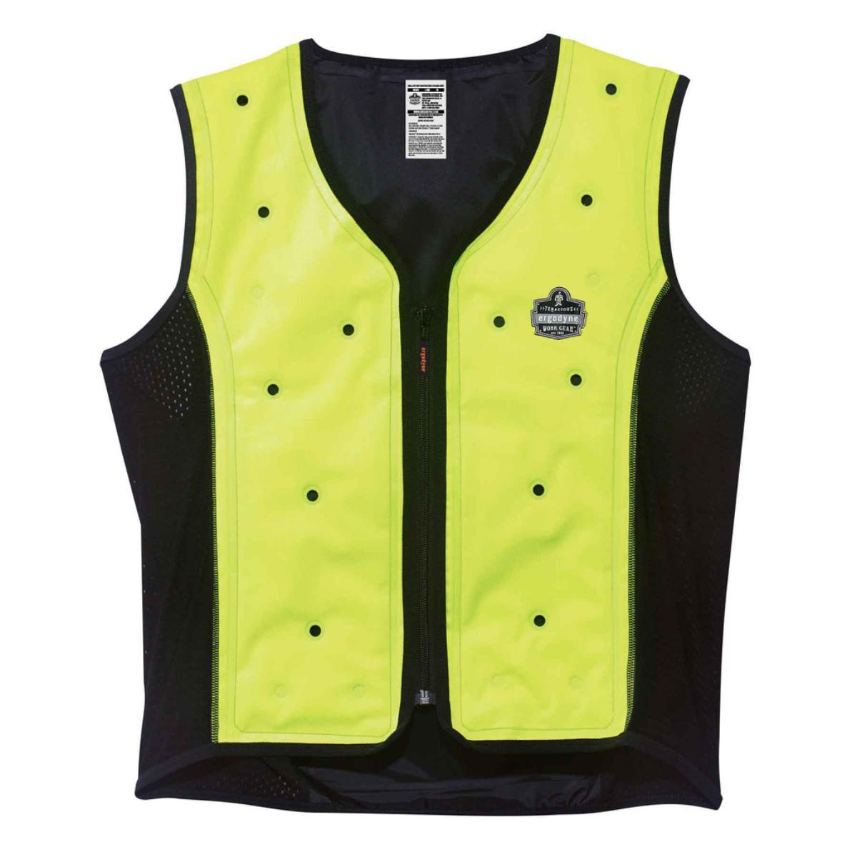 6685 L Lime Dry Evaporative Cooling Vest