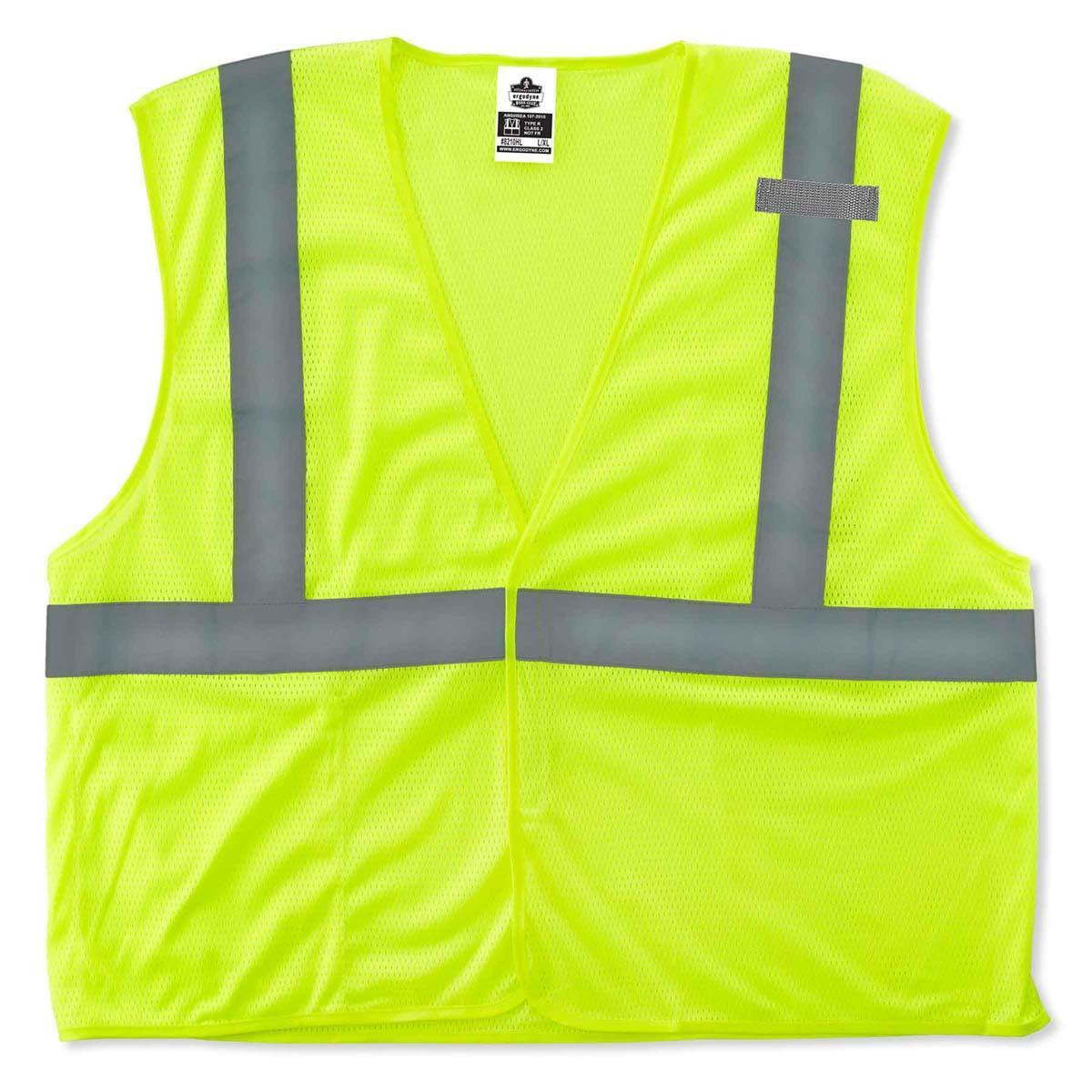 8210HL 2XL/3XL Lime Type R Class 2 Economy Mesh Vest