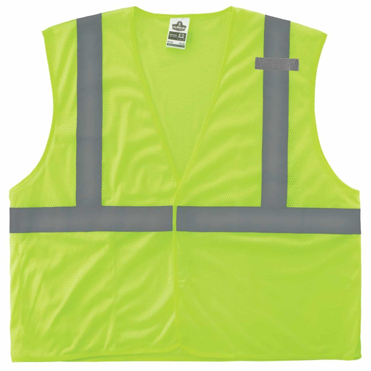 8210HL S/M Lime Type R Class 2 Economy Mesh Vest