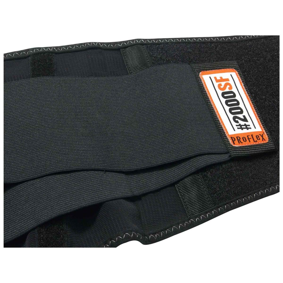 2000SF 3XL Black High-Performance Back Support