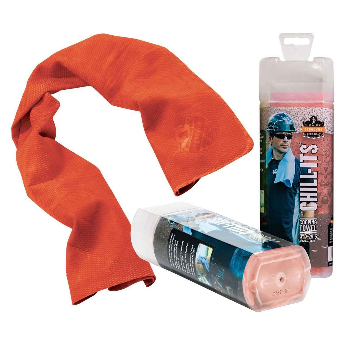 6602  Orange Evaporative Cooling Towel