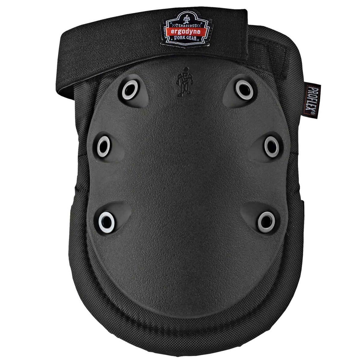 335HL  Black Cap Slip Resistant Rubber Cap Knee Pad - H&L